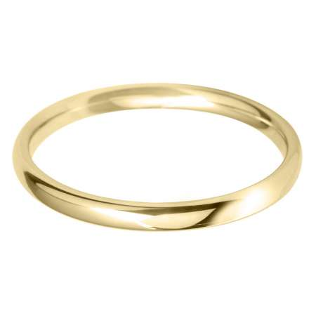 9ct Yellow Gold Ladies BLC Shaped Wedding Ring