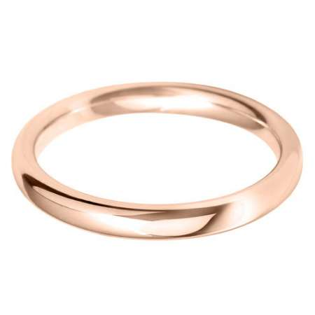 18ct Rose Gold Ladies BLC Shaped Wedding Ring