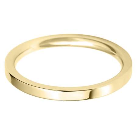 18ct Yellow Gold Ladies FC Shaped Wedding Ring