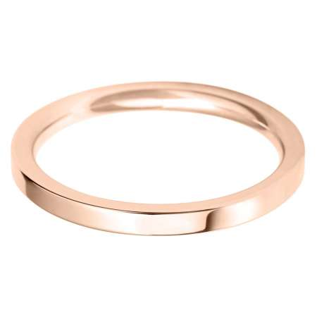 18ct Rose Gold Ladies FC Shaped Wedding Ring