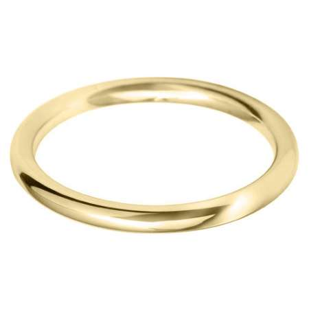 18ct Yellow Gold Ladies BC Shaped Wedding Ring