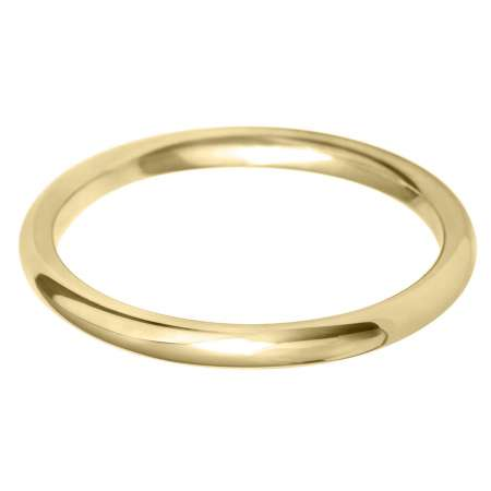 9ct Yellow Gold Ladies Court Shaped Wedding Ring