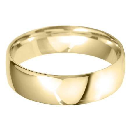 9ct Yellow Gold Gents BLC Shaped Wedding Ring