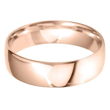 18ct Rose Gold Gents BLC Shaped Wedding Ring