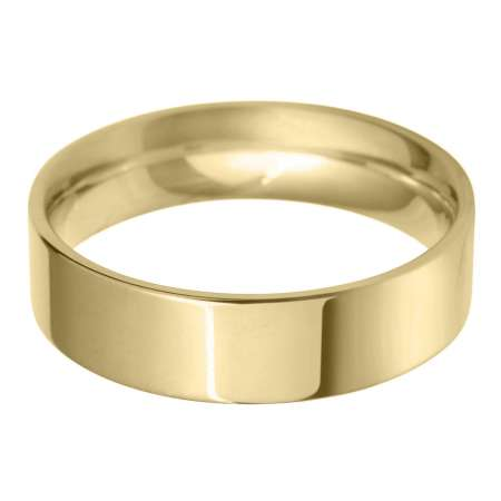 9ct Yellow Gold Gents FC Shaped Wedding Ring