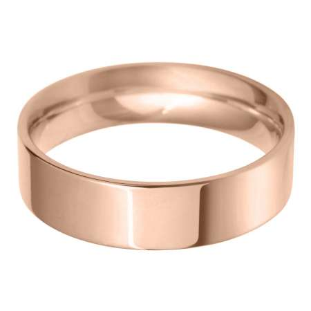 18ct Rose Gold Gents FC Shaped Wedding Ring