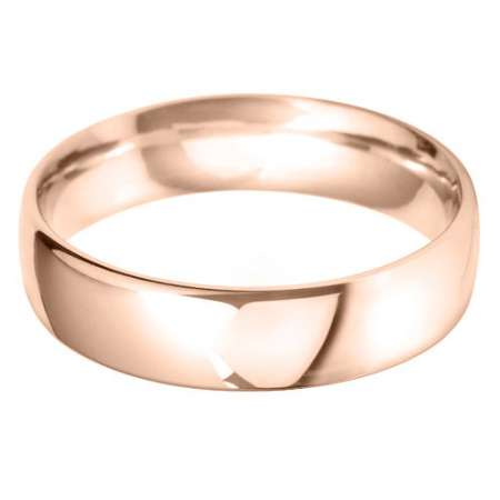 18ct Rose Gold Gents BC Shaped Wedding Ring