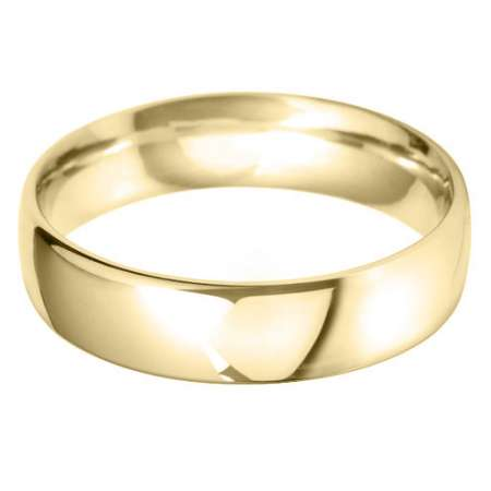 18ct Yellow Gold Gents BC Shaped Wedding Ring