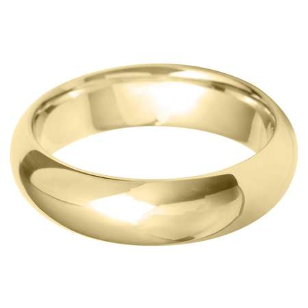 9ct Yellow Gold Gents Court Shaped Wedding Ring