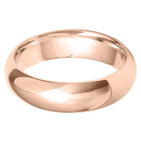 18ct Rose Gold Gents Court Shaped Wedding Ring