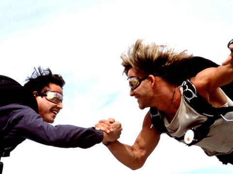 Point Break Skydive Scene