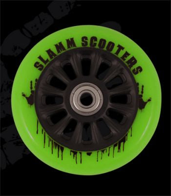 Slamm 100 mm Black/Green + ABEC 7 - Stuntstep