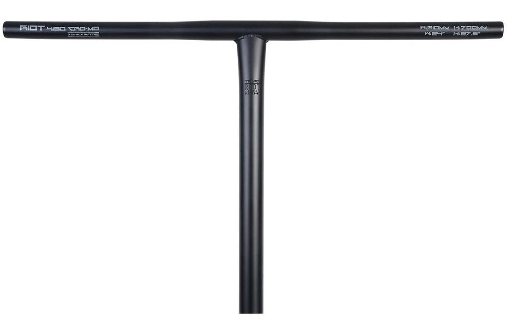 Triad Riot Butted T Bar Satin Black