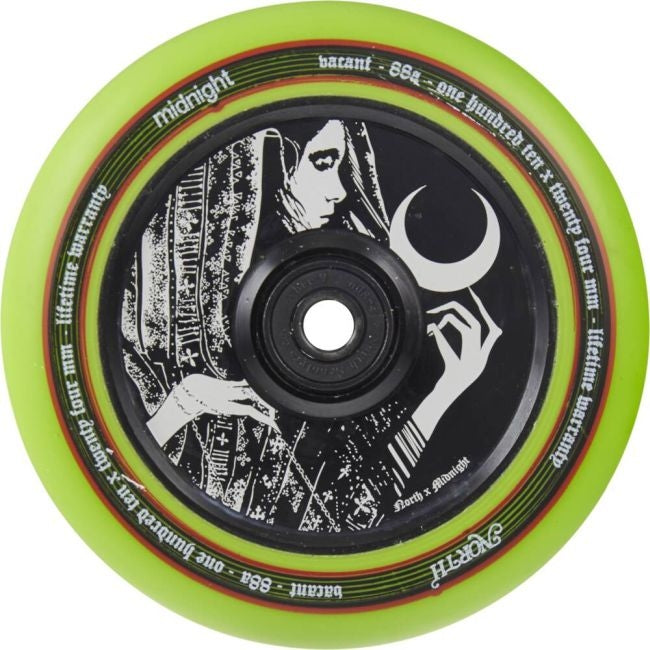 North x Midnight Vacant 110 Wheel Glow in the Dark - Stuntstep