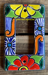 MEXICAN TALAVERA POTTERY ROCKER  SWITCH PLATE TRSP032