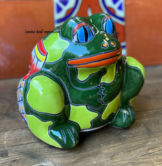 Talavera Frog Flower Pot Planter TFPS6006