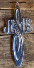 Wall Hanging Pewter Cross Decor MCP024