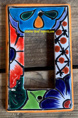 MEXICAN TALAVERA POTTERY ROCKER  SWITCH PLATE TRSP029