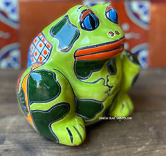 Talavera Frog Flower Pot Planter TFPS6008