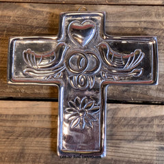Wall Hanging Pewter Cross Decor MCP035