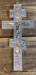 Wall Hanging Pewter Cross Decor MCP037