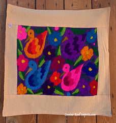 Guatemala Pillow Cover Embroidered On Huipil Pillow Case GCP015