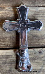 Wall Hanging Pewter Cross Decor MCP015