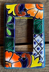 MEXICAN TALAVERA POTTERY ROCKER  SWITCH PLATE TRSP031
