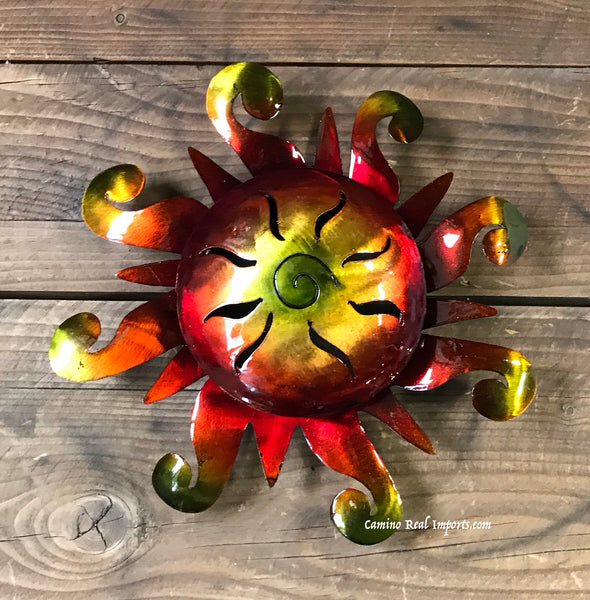 "Wall Hanging Metal Sun 9""  MTS90010"