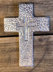 Wall Hanging Pewter Cross Decor MCP017