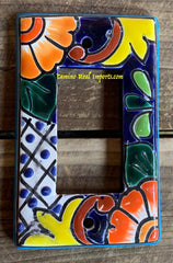 MEXICAN TALAVERA POTTERY ROCKER  SWITCH PLATE TRSP028