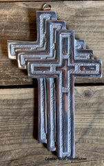 Wall Hanging Pewter Cross Decor MCP013