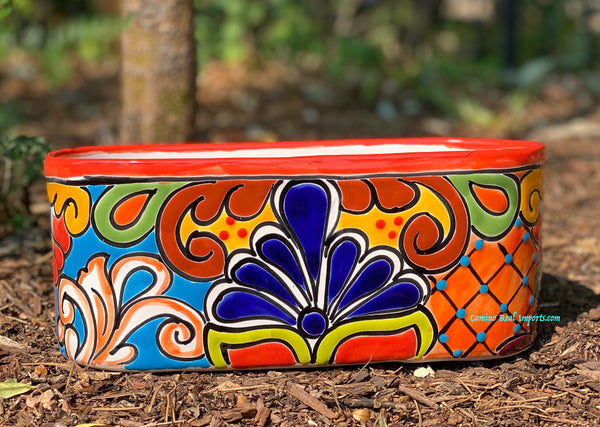 Talavera Flower Pot Planter Window Box TPWB11001