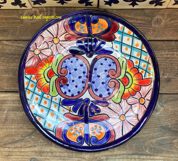 "Mexican Wall Hanging Talavera pottery Plate 11"" TP11027"
