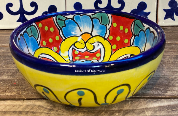 "Mexican Talavera Pottery Bowl Plate 5.5"" TPB012"