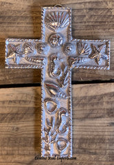 Wall Hanging Pewter Cross Decor MCP038