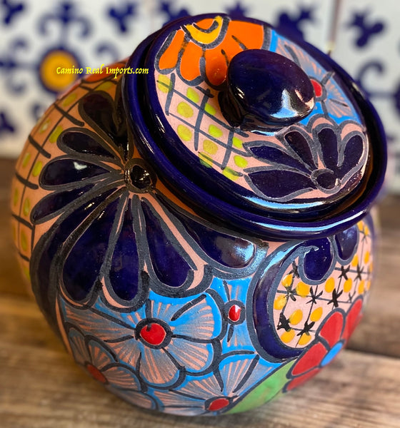 Talavera Pottery Canister Hand Painted Cookie Jar TCJ015