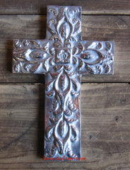 Wall Hanging Pewter Cross Decor MCP002