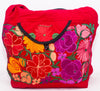 GUATEMALA PURSE HAND EMBROIDERED FLOWERS HOBO BAG X-LARGE GPL004