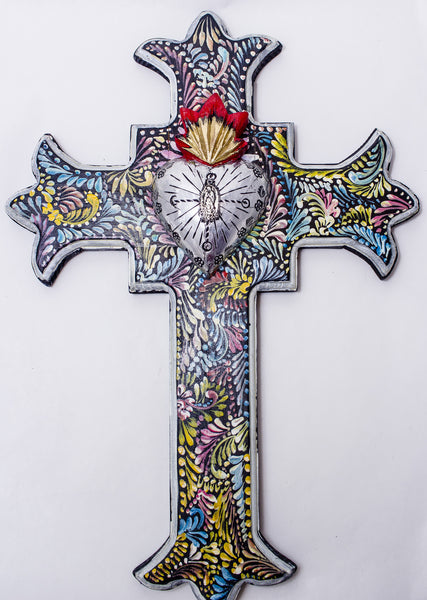 Hand Made Mexican Folk Art Cross  LWC003