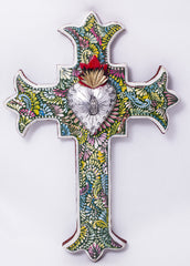 Hand Made Mexican Folk Art Cross  LWC004