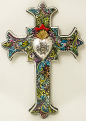 Hand Made Mexican Folk Art Cross  LWC006