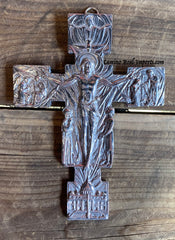 Wall Hanging Pewter Cross Decor MCP006