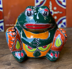 Talavera Frog Flower Pot Planter TFPS6007