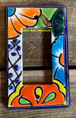 MEXICAN TALAVERA POTTERY ROCKER  SWITCH PLATE TRSP030