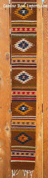 "ZAPOTEC RUG 8"" X 77"" RUNNER WITH SOUTHWESTERN DESIGN  ZRR77-008"