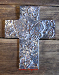 Wall Hanging Pewter Cross Decor MCP003