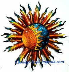 5.5Ft Wall Hanging Metal Sun Decor  MSXL001
