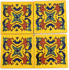 "Mexican Tile 4""  T4012"