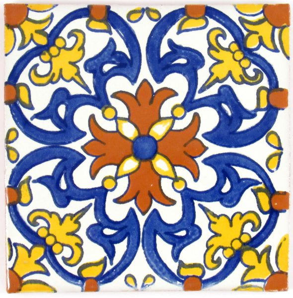 "Mexican Tile 4""  T4021"